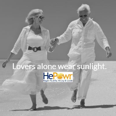 Loving elderly Couple Running on Beach